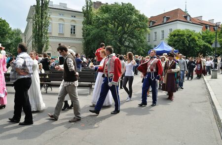 frederic chopin: Warsaw, Poland - May 30, 2010 - Dance parade in the courtyard of the University of Warsaw - on the occasion of the 200th anniversary of the birth of Frederic Chopin. Editorial