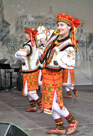 Warsaw, Poland - May 30, 2010 - Hutsul dances performed by Song and Dance Ensemble of Warsaw University of Technology - on the occasion of the 200th anniversary of the birth of Frederic Chopin. Hutsuls are an ethno-cultural group of Ukrainian highlanders. Editorial