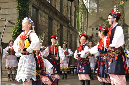 frederic chopin: Warsaw, Poland - May 30, 2010 - Krakowiak dance performed by Song and Dance Ensemble Male Podlasie - on the occasion of the 200th anniversary of the birth of Frederic Chopin. Editorial