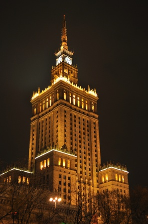Palace of Culture and Science in Warsaw, Poland. From 1955 to 1957 it was the tallest building in Europe.