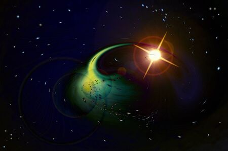 Abstract light in space Stock Photo - 9800668