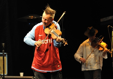 kroke: Warsaw, Poland - September 04, 2010 - Nigel Kennedy and Kroke Band performs on stage at The Jewish Cultural Festival.