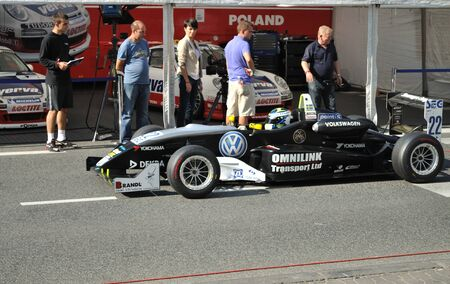 Warsaw, Poland - August 21, 2010 - Formula 3 Race Car in the paddock, at the Verva Street Race.