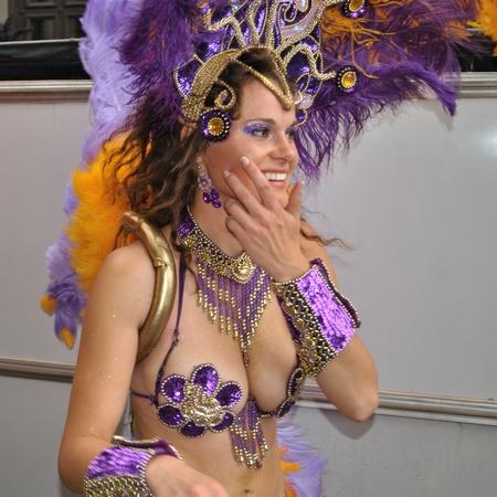 Warsaw, Poland - September 5, 2009 - Participant in the Carnival Parade - Bom Dia Brasil.