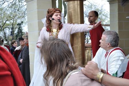 Gora Kalwaria, Poland - April 17, 2011 - Pilate Stock Photo - 12690698