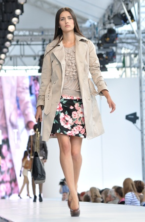 Warsaw, Poland - June 26, 2011 - Models walk on the catwalk showcasing the collection by Joanna Danilo during the Warsaw Fashion Street.