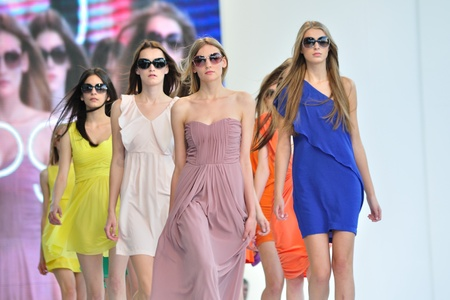 Warsaw, Poland - June 26, 2011 - She is in Vogue - sunglasses presentation, during the Warsaw Fashion Street. Editorial