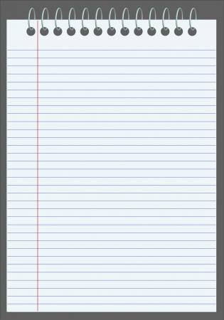 Vector lege gevoerd notebook
