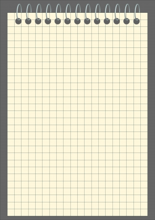 square sheet: Vector blank squared notebook