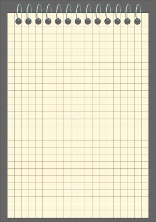 Vector cuadrado cuaderno en blanco Ilustración de vector