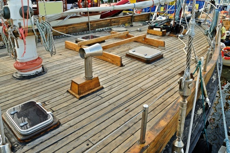 Classic wooden yacht deck Stock Photo - 15714243