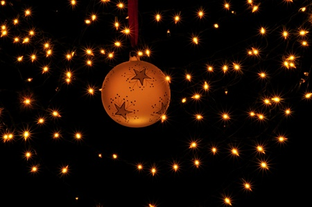 Christmas ball and lights Stock Photo - 16776772