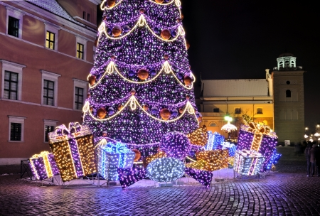 Christmas decorations in Warsaw Stock Photo - 16911611