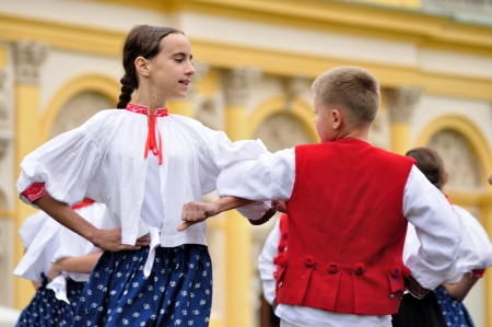 WARSAW - SEPTEMBER 11: Folk dance of the Silesian Gorals (Highlanders), performed by the ensemble Kuznia Artystyczna, during of the Wilanow Days event on September 11, 2010 in Warsaw, Poland. Stock Photo - 20963944