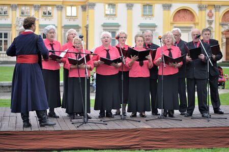 WARSAW - SEPTEMBER 11: Performance Wilanow Singers Group, during of the Wilanow Days event on September 11, 2010 in Warsaw, Poland.
