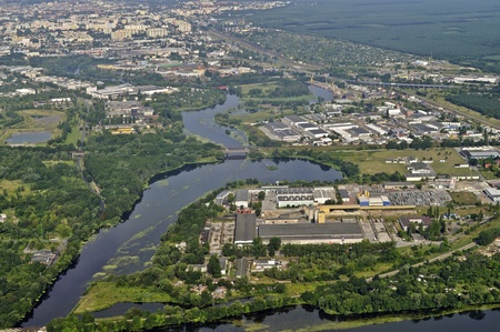 homesteads: Aerial view of the surroundings Bydgoszcz in Poland
