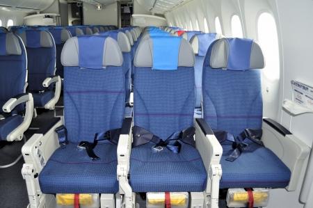 zitrijen in een vliegtuig cabine