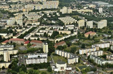 Aerial view of housing estates in Bydgoszcz - Poland photo