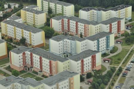 housing estates: Veduta aerea di complessi residenziali in Bydgoszcz - Polonia