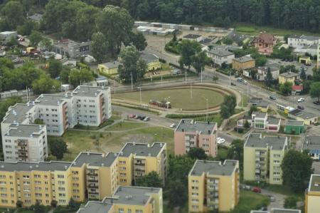 Luchtfoto van woonwijken in Bydgoszcz - Polen