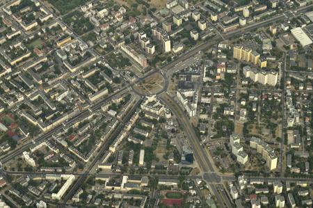 Aerial view - Roundabout Wiatraczna, Warsaw, Poland photo