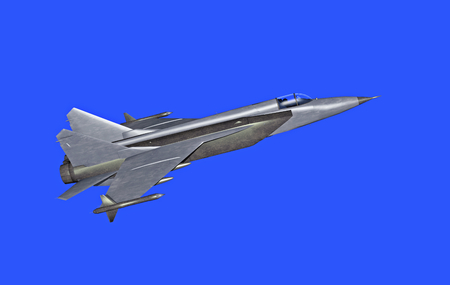 supersonic plane: illustration 3d model of jetfighter