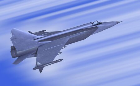 supersonic transport: illustration 3d model of jetfighter