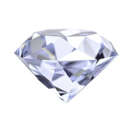 clarity: diamond 3d render illustration