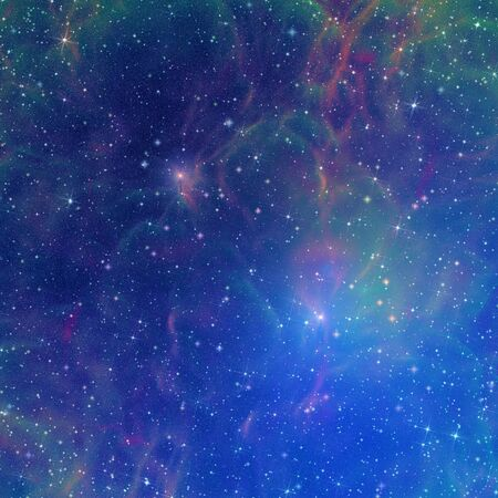 Illustration of interstellar space, generated by computer. Stock Photo