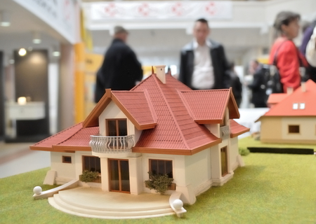architectural model: Family house architectural model. Stock Photo