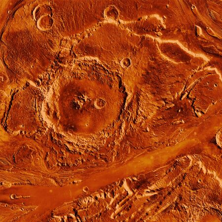 the  of the surface: Red planet surface background Stock Photo