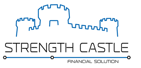 Castle, fortress logo template. Thin line silhouette. Tower abstract sign illustration. Architecture design element. 向量圖像
