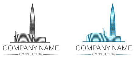 Real estate, consulting, construction logo template. Architecture design element.