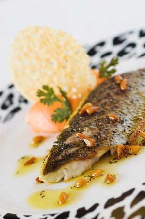 Sea Bass fillet and pine nut oil