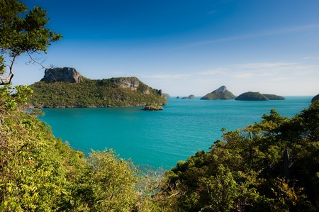 Archipelago of Ang Thong, National Marine Park, Koh Samui, Thailand. The archipelago comprises of some forty plus islands, mostly uninhabited. Stock Photo - 4464042