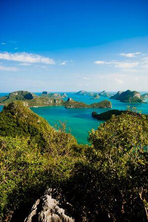 uninhabited: Archipelago of Ang Thong, National Marine Park, Koh Samui, Thailand. The archipelago comprises of some forty plus islands, mostly uninhabited.