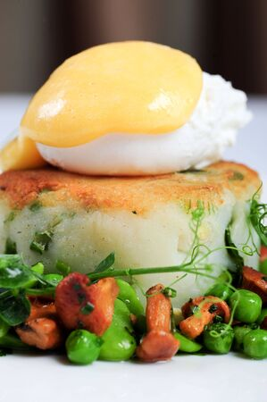 squeak: Bubble and squeak with poached egg and woodland mushrooms