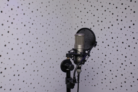 microphone in a sound recording studio photo