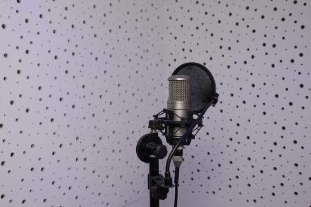 microphone in a sound recording studio Stock Photo