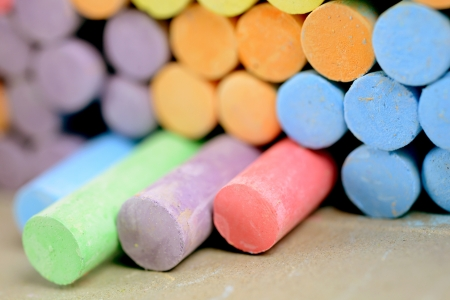 chalks: chalks Stock Photo
