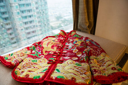 unlined: Chinese-style unlined garment