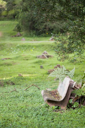 Rust in een begraafplaats.