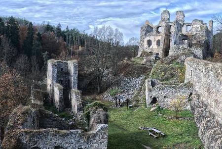 Romantic castle ruins - Girl