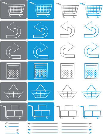 Small set of icons for e-shops and e-commerce websites
