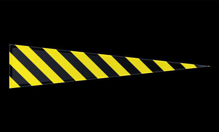 Triangle shaped progress bar with hazard stripes pattern. 矢量图像