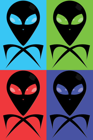Extrarestrial jolly roger in color variations
