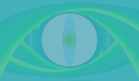 Reptile eye abstraction in ocean, azure colors. 矢量图像