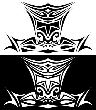Ornamental illustration of Knight Illustration