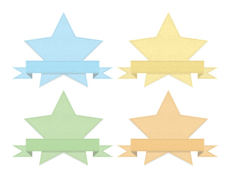 Vintage denim styled set of stars 일러스트