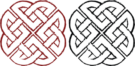 Stylized Celtic knots for design and infographics.